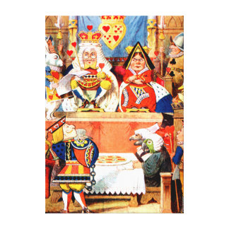 Trial of the Knave of Hearts in Wonderland Canvas Print