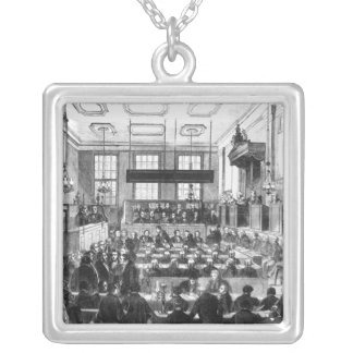 Trial of William Palmer Silver Plated Necklace