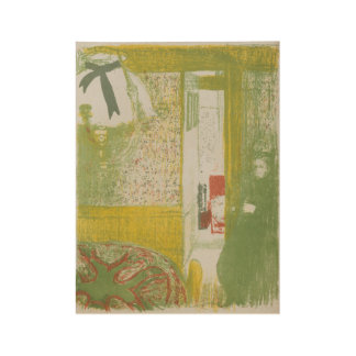Trial proof of Interior with a Hanging Lamp , Edou Wood Poster