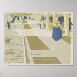 Trial proof of The Avenue, Edouard Vuillard (1868 Poster