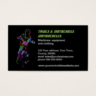 Trials motocross motorcycle business card