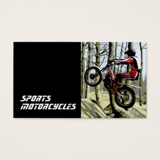 Trials Motorcycles template Business Card