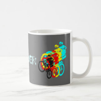 Trials rider classic white coffee mug