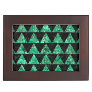 TRIANGLE2 BLACK MARBLE & GREEN MARBLE MEMORY BOX