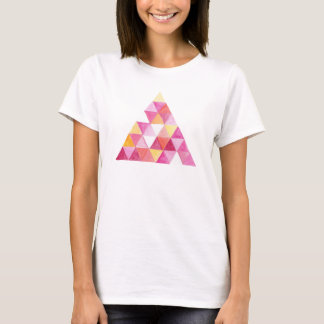 Triangle Abstract Art Pink Hipster Graphic T-shirt