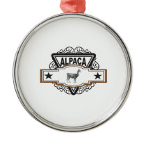 triangle alpaca art metal ornament