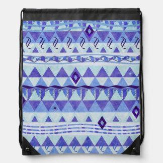 Triangle and Diamond Blue Chevron Backpack