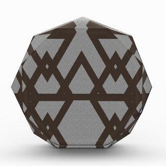 Triangle and Diamond Gray Pattern Acrylic Award
