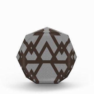 Triangle and Diamond Gray Pattern Award