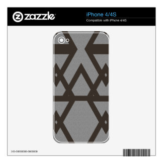 Triangle and Diamond Gray Pattern Decal For iPhone 4S