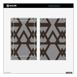 Triangle and Diamond Gray Pattern Decals For Kindle Fire