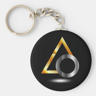 triangle and ring key chain