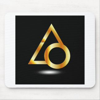 triangle and ring mouse pad
