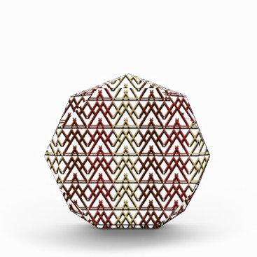 Aztec Themed Triangle Aztec Pattern Acrylic Award