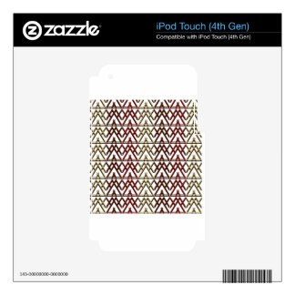 Triangle Aztec Pattern iPod Touch 4G Skin