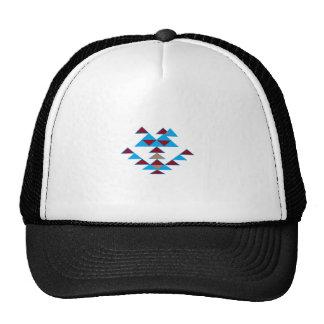 Triangle Bird Design Turquoise and Dark Red Trucker Hats
