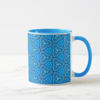 Triangle Blue Lace Quartz Quilt Mug