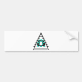 triangle bumper stickers