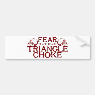 Triangle Choke Bumper Sticker