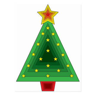 Modern decorated christmas tree - Triangle Christmas Tree Cards Zazzle