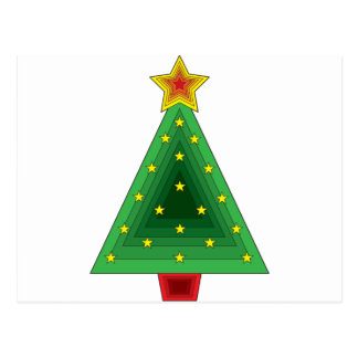 Triangle Christmas Tree Postcards | Zazzle