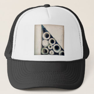 Triangle circle trucker hat