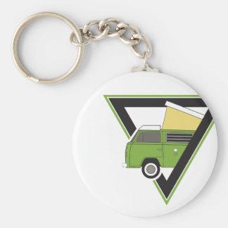 triangle classic green camper van keychain