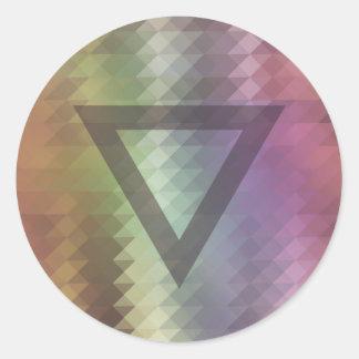Triangle Classic Round Sticker