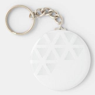 Triangle Cliffs - White Keychain