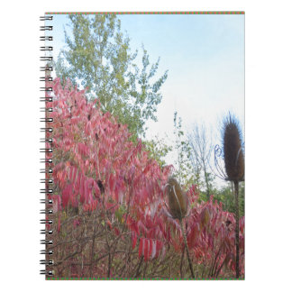 Triangle Colorful Nature Print Goodluck warm fall Spiral Notebook