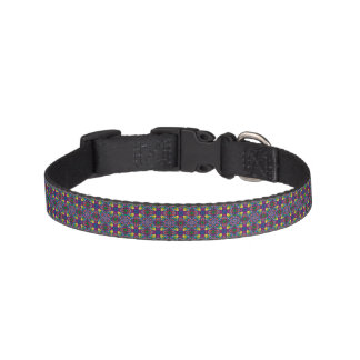 Triangle Colors Glass Pattern Pet Collar