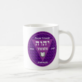 Triangle dbl purple coffee mug