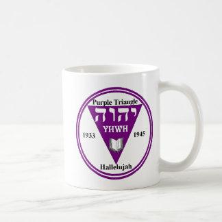 Triangle dbl wht coffee mug