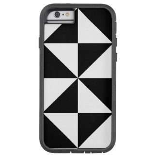 Triangle Diamond Black White Large Tribal Pattern Tough Xtreme iPhone 6 Case