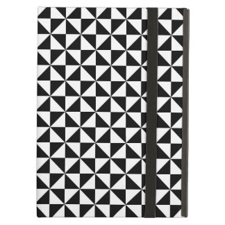 Triangle Diamond Black White Tongan Tribal Pattern Cover For iPad Air
