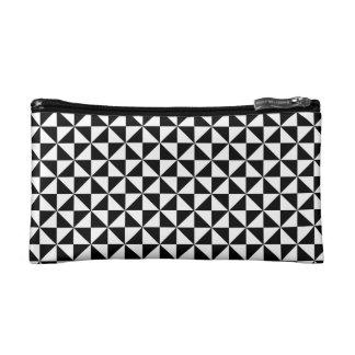 Triangle Diamond Black White Tongan Tribal Pattern Makeup Bag
