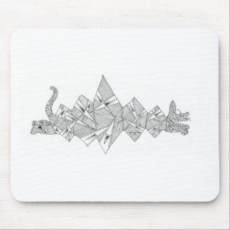 triangle dog mouse pad