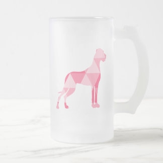 Triangle Dogge Frosted Glass Beer Mug