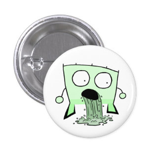 Triangle Dude Young Barfing Pinback Button