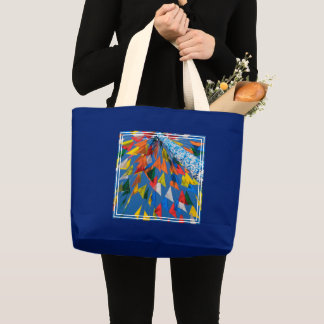 Triangle Flag Decoration Large Tote Bag