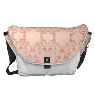 Triangle Flower Pattern Courier Bag