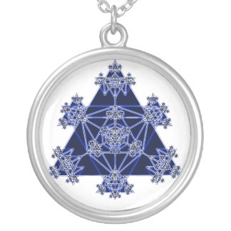 Triangle Fractal Abstract Art Necklace