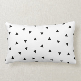 triangle geo rectangle shape // black + white throw pillows