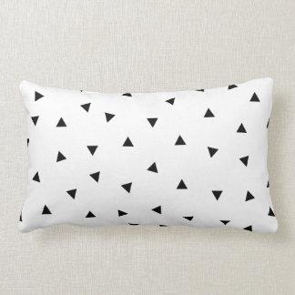 triangle geo rectangle shape // black + white throw pillow