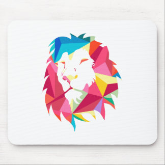 Triangle Geomatric Lion Mouse Pad