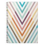 Triangle Geometric Chevron Rainbow Notebook
