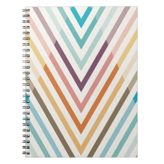 Triangle Geometric Chevron Rainbow Notebook