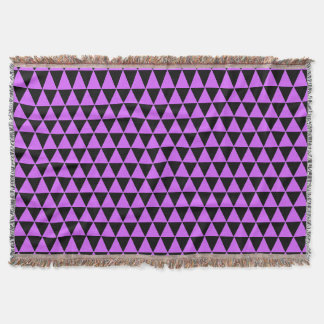 triangle geometric pattern hot pink u0026amp black throw blanket