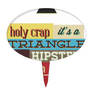 triangle hipster and breath cake topper