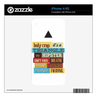 triangle hipster and breath iPhone 4 decal